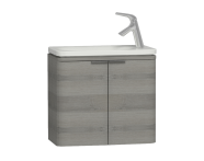 56127 - Nest Trendy Narrow Washbasin Unit 60 cm, Grey Natural Oak