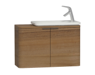 56129 - Nest Trendy Narrow Washbasin Unit 80 cm, Waved Natural Wood