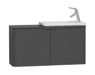 56131 - Nest Trendy Dar Lavabo dolabı, 100 cm, Parlak Antrasit