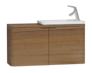 56132 - Nest Trendy Narrow Washbasin Unit 100 cm, Waved Natural Wood