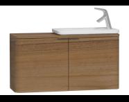 56132 - Nest Trendy Dar Lavabo dolabı, 100 cm, Hareli Doğal Ahşap