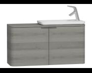 56133 - Nest Trendy Dar Lavabo dolabı, 100 cm, Gri Dokulu Ahşap