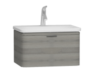 56136 - Nest Trendy 1 Drawer Washbasin Unit 60 cm Grey Natural Oak