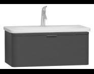 56137 - Nest Trendy Lavabo dolabı, tek çekmeceli, 80 cm, Parlak Antrasit