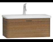 56138 - Nest Trendy Lavabo dolabı, tek çekmeceli, 80 cm, Hareli Doğal Ahşap