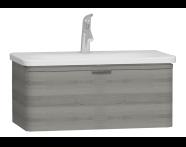 56139 - Nest Trendy Lavabo dolabı, tek çekmeceli, 80 cm, Gri Dokulu Ahşap