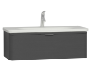 56140 - Nest Trendy 1 Drawer Washbasin Unit 100 cm Anthracite High Gloss
