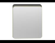 56159 - Nest Trendy Ledli Duz Ayna 60 cm,  Parlak Antrasit