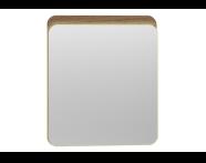 56160 - Nest Trendy Ledli Duz Ayna 60 cm,  Hareli Doğal Ahşap