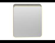 56161 - Nest Trendy Ledli Duz Ayna 60 cm,  Gri Dokulu Ahşap