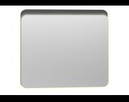 56162 - Nest Trendy Ledli Duz Ayna 80 cm,  Parlak Antrasit