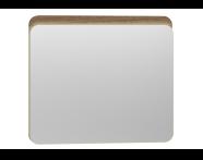 56163 - Nest Trendy Ledli Duz Ayna 80 cm,  Hareli Doğal Ahşap