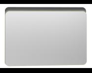 56165 - Nest Trendy Ledli Duz Ayna 100 cm,  Parlak Antrasit