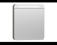 56170 - Nest Trendy Dolaplı Ayna 60 cm,  Gri Dokulu Ahşap Sağ