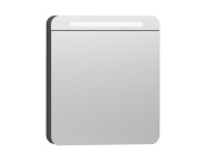 56171 - Nest Trendy Dolaplı Ayna 60 cm,  Parlak Antrasit Sol