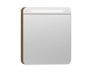 56172 - Nest Trendy Dolaplı Ayna 60 cm,  Hareli Doğal Ahşap Sol