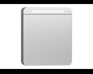 56173 - Nest Trendy Dolaplı Ayna 60 cm,  Gri Dokulu Ahşap Sol