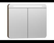 56175 - Nest Trendy Dolaplı Ayna 80 cm,  Hareli Doğal Ahşap