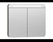 56176 - Nest Trendy Dolaplı Ayna 80 cm,  Gri Dokulu Ahşap