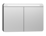 56177 - Nest Trendy Dolaplı Ayna 100 cm,  Parlak Antrasit