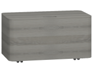 56182 - Nest Trendy Base Unit with Wheels 80 cm Grey Natural Oak