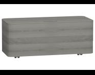 56185 - Nest Trendy Tekerlekli Alt Ünite 100 cm Gri Dokulu Ahşap