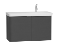 56200 - Nest 2 Doors Washbasin Unit 100 cm, Anthracite