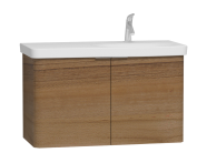 56201 - Nest 2 Doors Washbasin Unit 100 cm, Waved Natural Wood