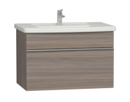 56203 - Era Washbasin Unit 80 cm, Grey Oak
