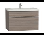 56203 - Era Washbasin Unit 80 cm, Grey Oak