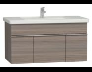 56206 - Era Washbasin Unit 100 cm, Grey Oak