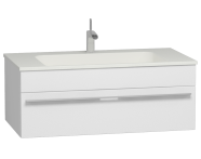 56235 - System Infinit Washbasin Unit, Including Infinit Washbasin, 100 cm, High Gloss White