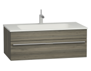56236 - System Infinit Washbasin Unit 100 cm, Hidden Syphon with Sink