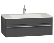 56237 - System Infinit Washbasin Unit 100 cm, Hidden Syphon with Sink