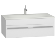 56238 - System Infinit Washbasin Unit 100 cm, Soft Moulded with Sink
