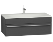 56240 - System Infinit Washbasin Unit 100 cm, Soft Moulded with Sink
