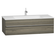 56242 - System Infinit Washbasin Unit 120 cm, Hidden Syphon with Sink