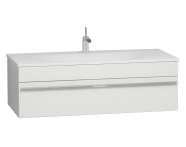 56244 - System Infinit Washbasin Unit 120 cm, Soft Moulded with Sink