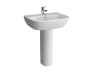 5634L003-0001 - Zentrum Basin, 65cm with Middle Tap Hole, with Overflow Holes