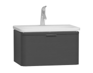 56398 - Nest Trendy Washbasin Unit, 1 Drawer, without Basin, 60 cm, High Gloss White
