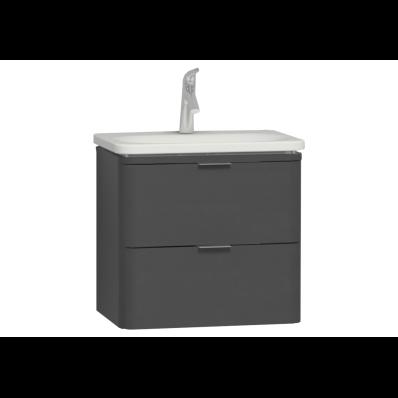 Nest Trendy Washbasin Unit, 2 Drawers, without Basin, 60 cm, High Gloss White