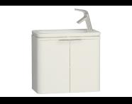 56415 - Nest Trendy Dar Lavabo dolabı, 60 cm, Parlak Beyaz