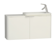 56417 - Nest Trendy Narrow Washbasin Unit 100 cm, White