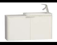 56417 - Nest Trendy Dar Lavabo dolabı, 100 cm, Parlak Beyaz