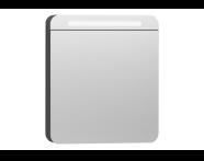 56421 - Nest Trendy Dolaplı Ayna 60 cm,  Beyaz Sol