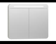 56423 - Nest Trendy Dolaplı Ayna 80 cm,  Beyaz