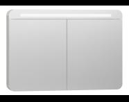 56424 - Nest Trendy Dolaplı Ayna 100 cm,  Beyaz