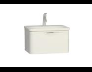 56437 - Nest Trendy Lavabo dolabı, tek çekmeceli, 60 cm, Parlak Beyaz