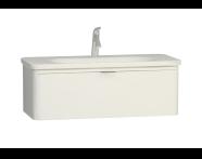 56439 - Nest Trendy Lavabo dolabı, tek çekmeceli, 100 cm, Parlak Beyaz
