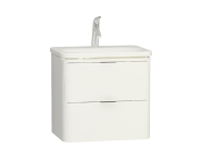 56440 - Nest Trendy Lavabo dolabı, 2 çekmeceli, 60 cm, Parlak Beyaz